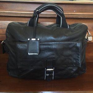 Hugo BOSS • RARE Vintage Leather Weekender Duffel
